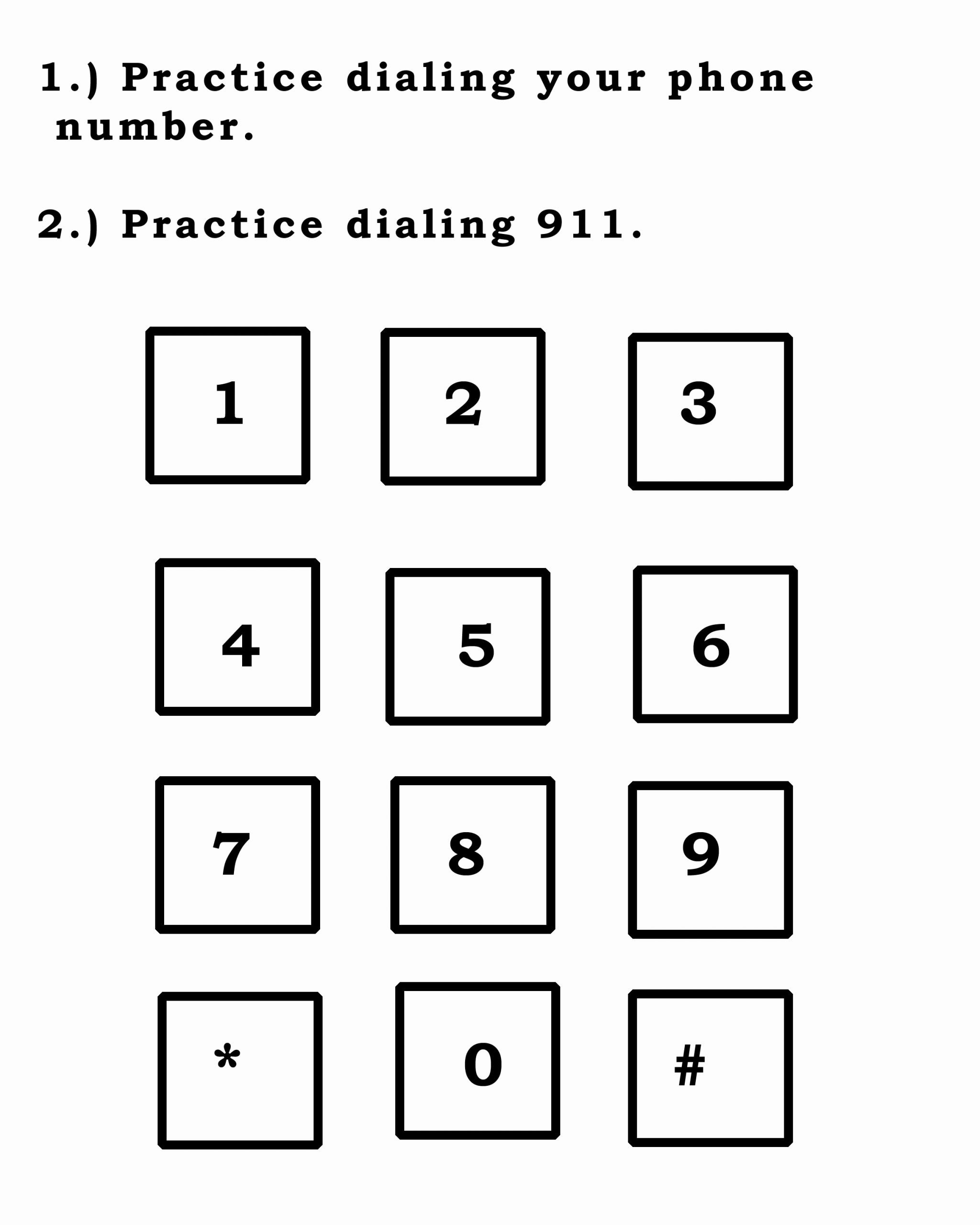 911 Worksheets for Preschoolers Fresh 911 Emergency Printable Worksheet