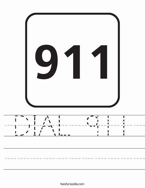 911 Worksheets for Preschoolers Kids Dial 911 Worksheet Twisty Noodle