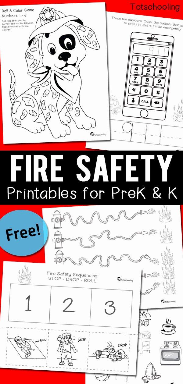 911 Worksheets for Preschoolers Printable Fire Safety Worksheets for Prek & Kindergarten