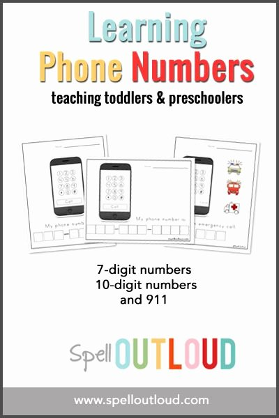 911 Worksheets for Preschoolers Printable Learning Telephone Numbers Printable Spell Out Loud