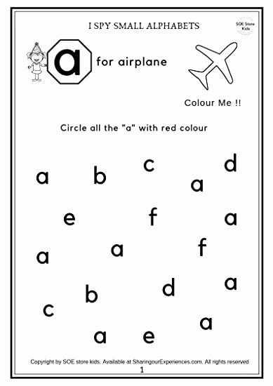 Activity Worksheets for Preschoolers top soe Store Kids Preschool Alphabets Activity Worksheets
