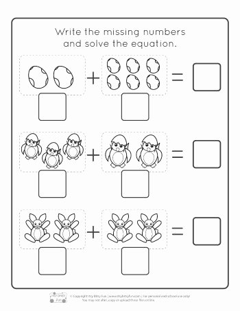 preschool addition worksheets simple for kindergarten with pictures