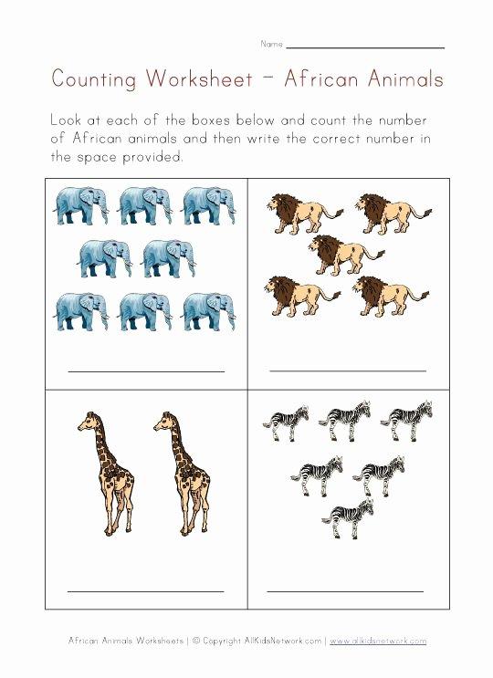 African Animals Worksheets for Preschoolers Fresh Animals Worksheets African Animals