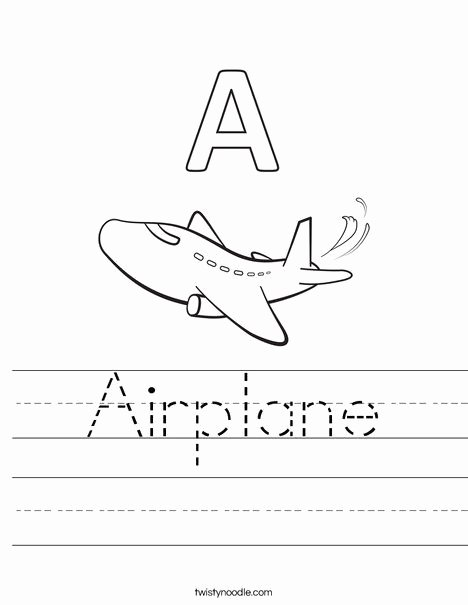 Airplane Worksheets for Preschoolers Best Of Airplane Worksheet From Twistynoodle