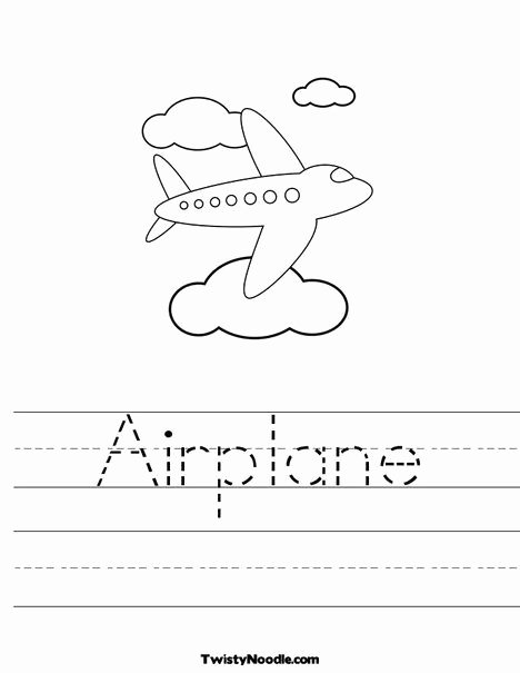 Airplane Worksheets for Preschoolers Best Of Airplane Worksheet