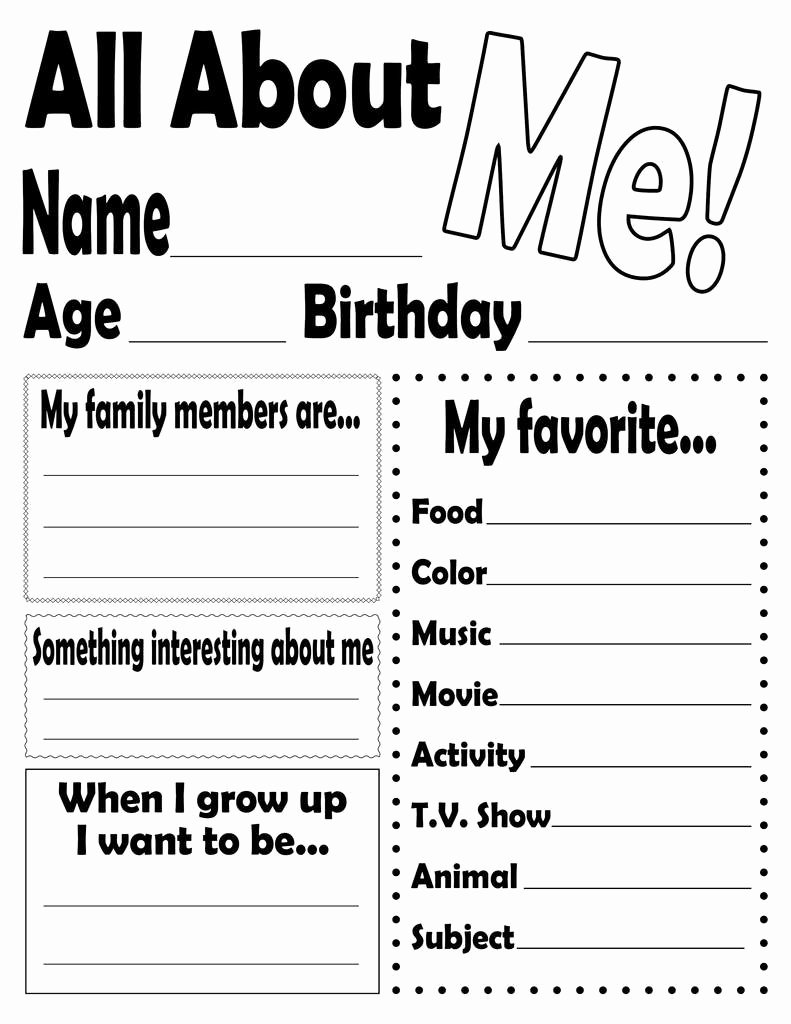 All About Me Printable Worksheets for Preschoolers Inspirational All About Me Worksheet and Printable Poster – Supplyme