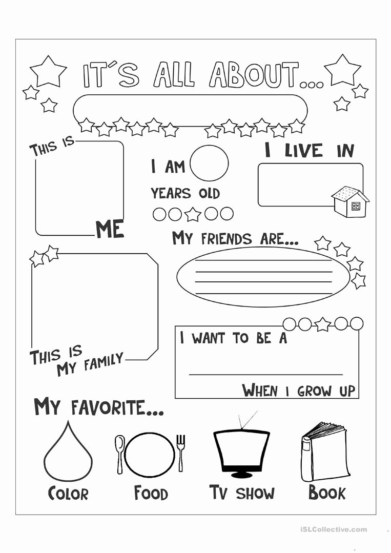 All About Me Printable Worksheets for Preschoolers Lovely All About Me English Esl Worksheets for Distance Learning