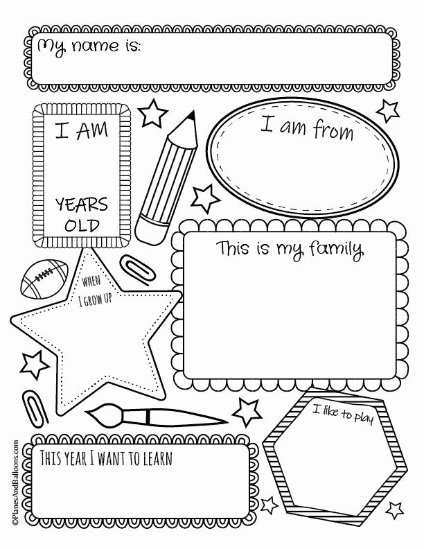 All About Me Printable Worksheets for Preschoolers Printable All About Me Worksheets Free Printable Perfect for Back to