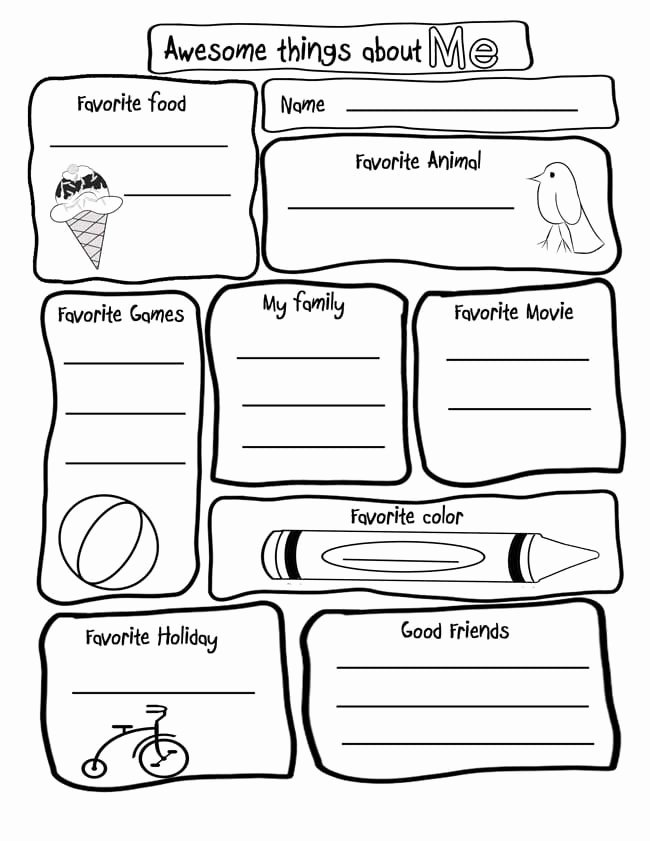 All About Me Printable Worksheets for Preschoolers top 15 Amazing All About Me Activities & Printables