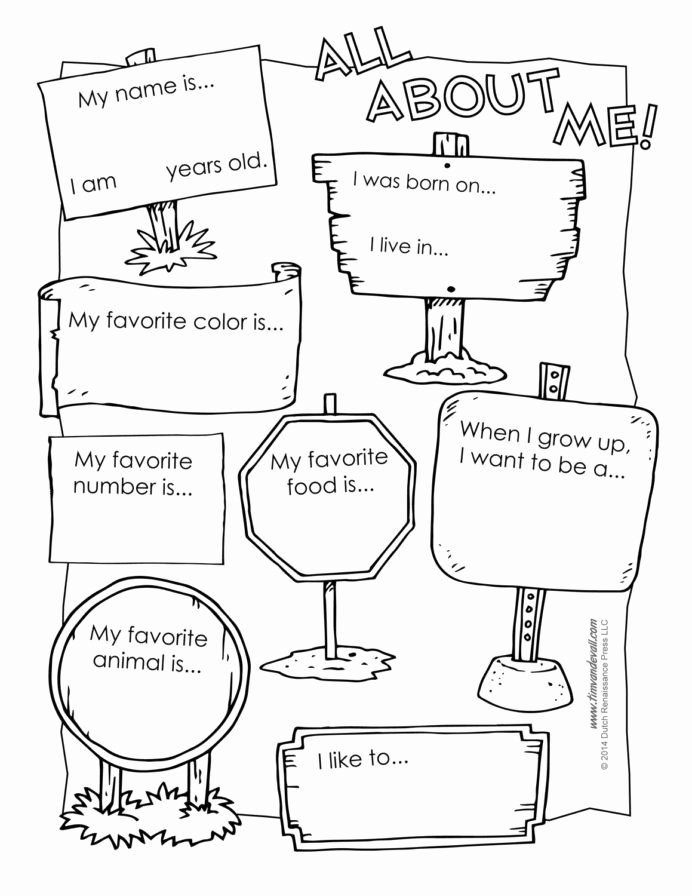 All About Me Printable Worksheets for Preschoolers top All About Preschool Template Best Printable
