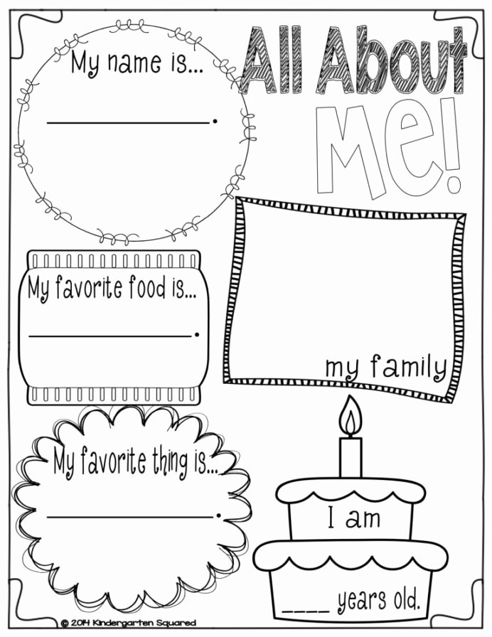 All About Me Worksheets for Preschoolers Free Back to School Galore for Kinders In All About Preschool