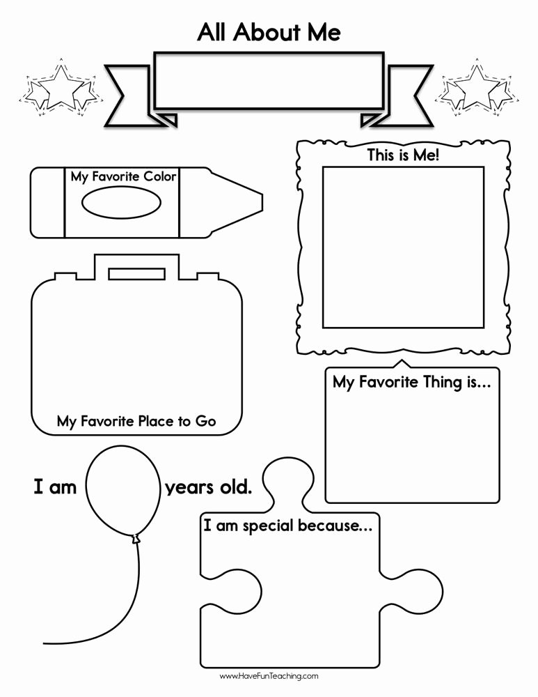 All About Me Worksheets for Preschoolers Lovely About Me Worksheet