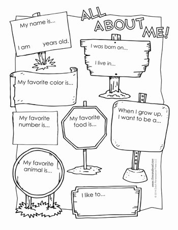 All About Me Worksheets for Preschoolers top All About Me Worksheet Tim S Printables
