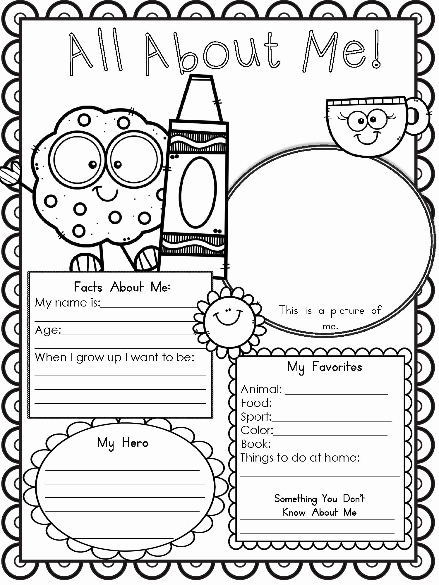 All About Me Worksheets for Preschoolers top Free Printable All About Me Worksheet Modern Homeschool Family
