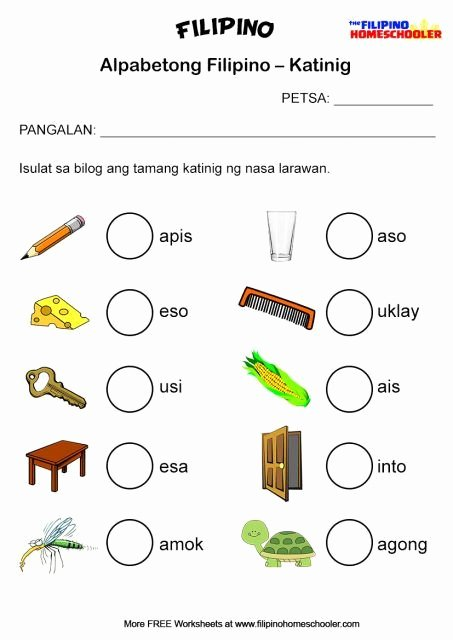 Alpabetong Filipino Worksheets for Preschoolers Best Of Filipino Katinig Worksheet Set 2a