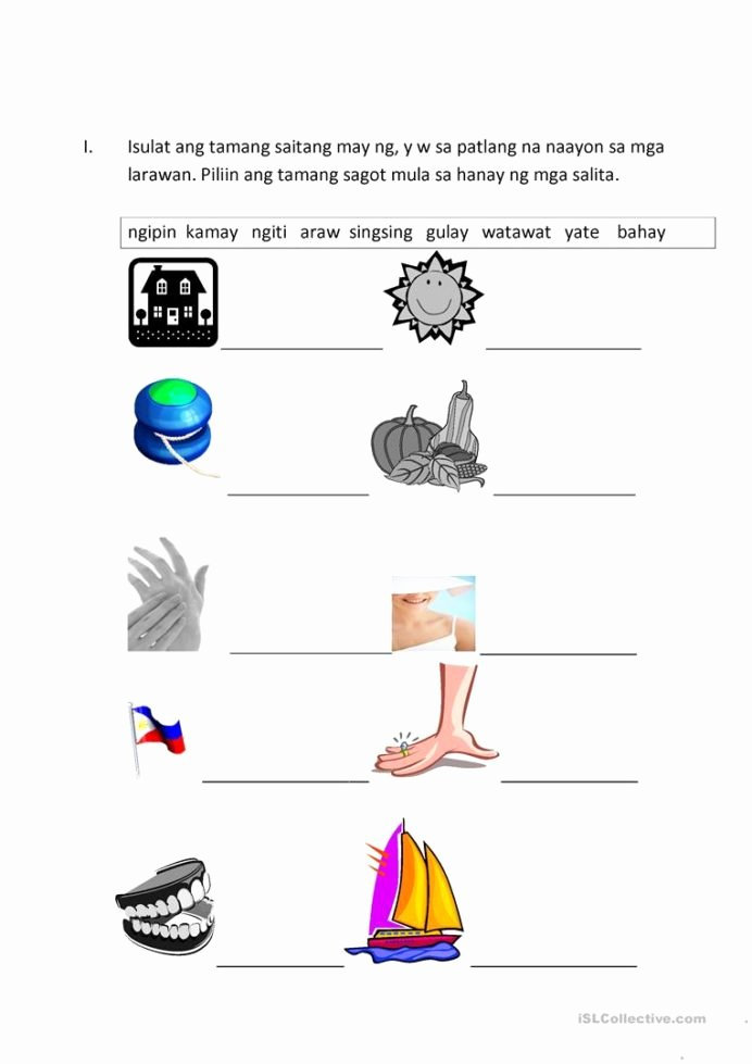 Alpabetong Filipino Worksheets for Preschoolers Fresh Filipino Worksheets English Esl for Distance Learning Kids