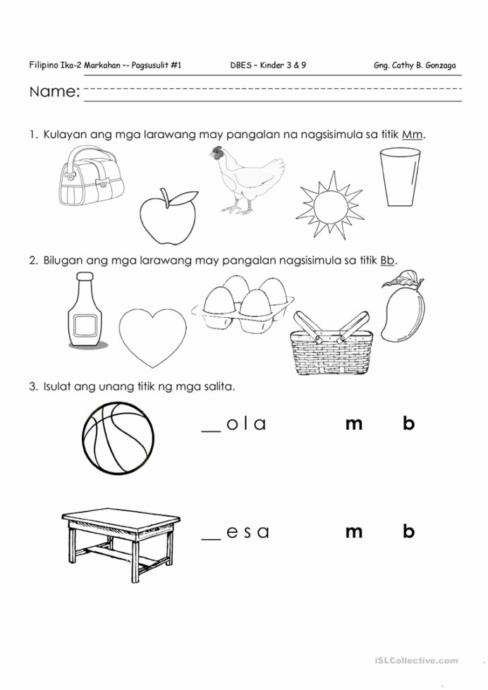 Alpabetong Filipino Worksheets for Preschoolers Lovely Filipino Quiz Mm English Esl Worksheets for Distance Kids