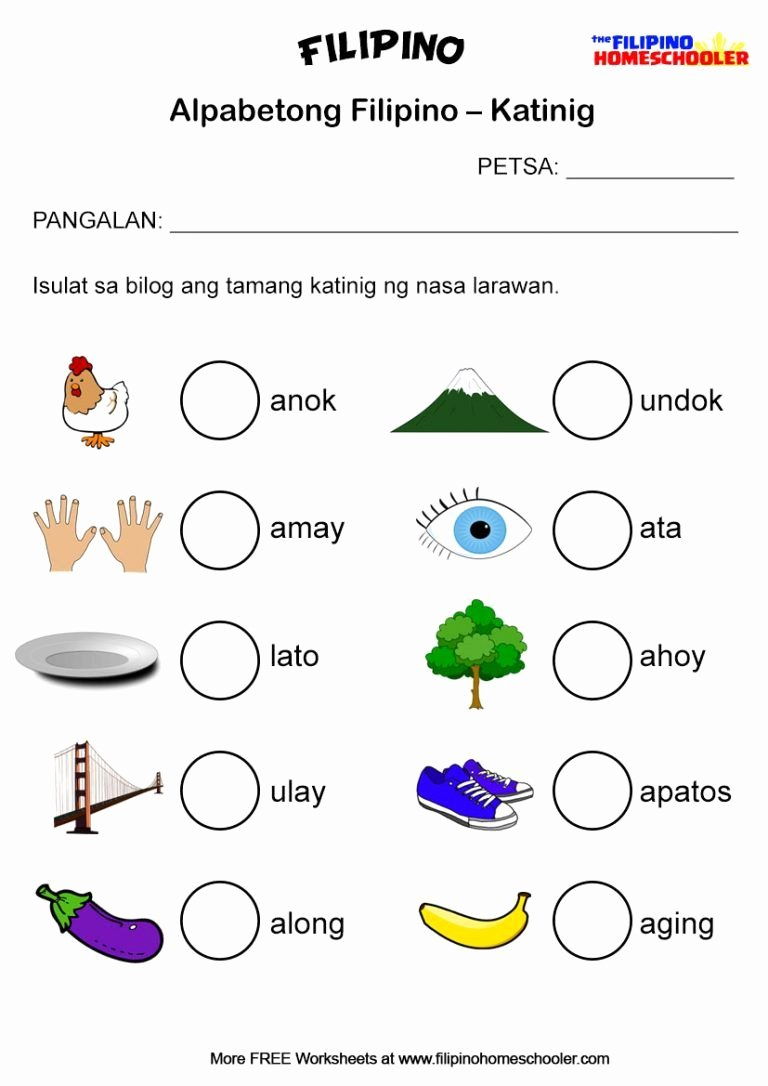 Alpabetong Filipino Worksheets for Preschoolers top Filipino Katinig Worksheet Set 2b