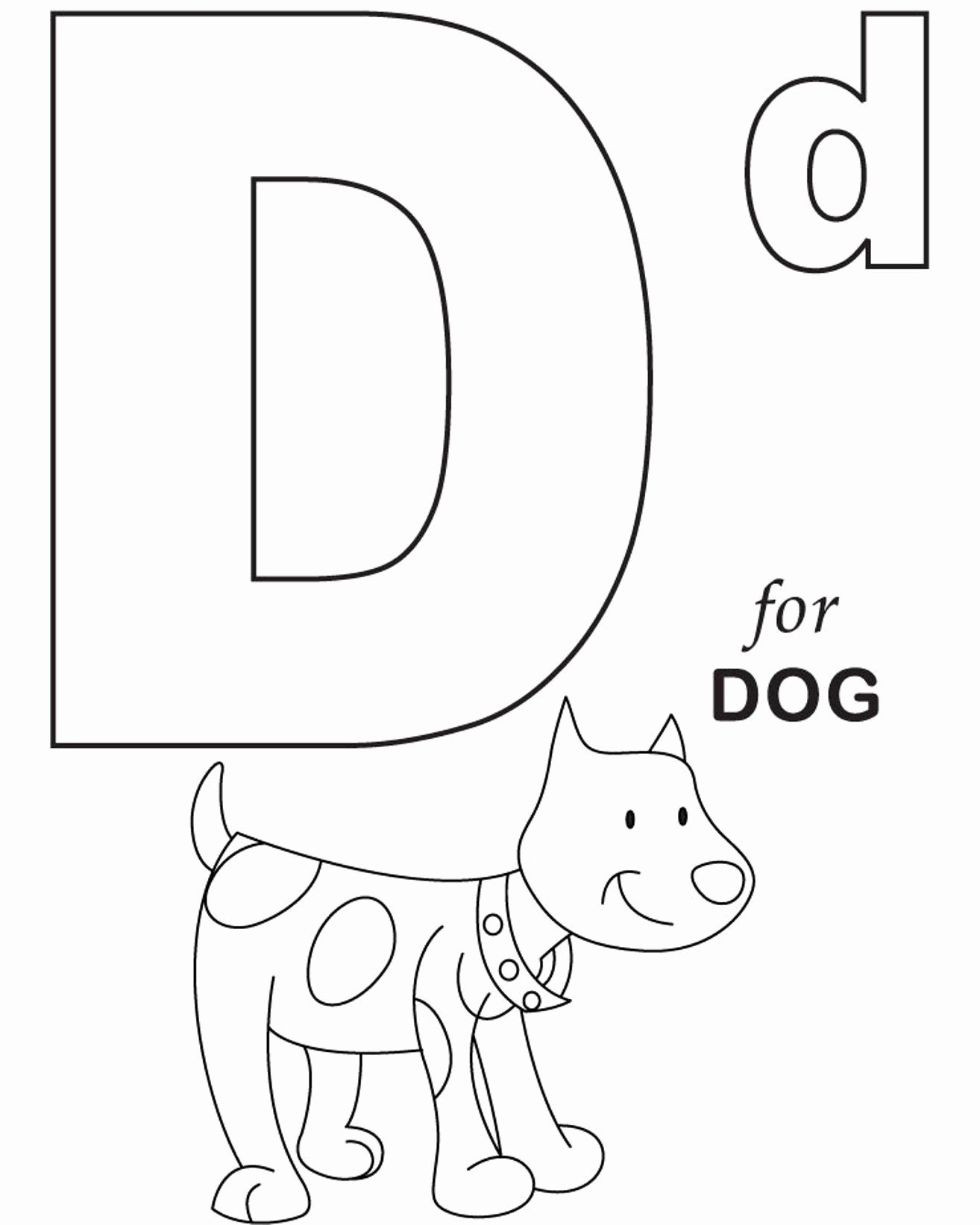 Alphabet Coloring Worksheets for Preschoolers Ideas Coloring Alphabet for Dog Printable Letter Preschool