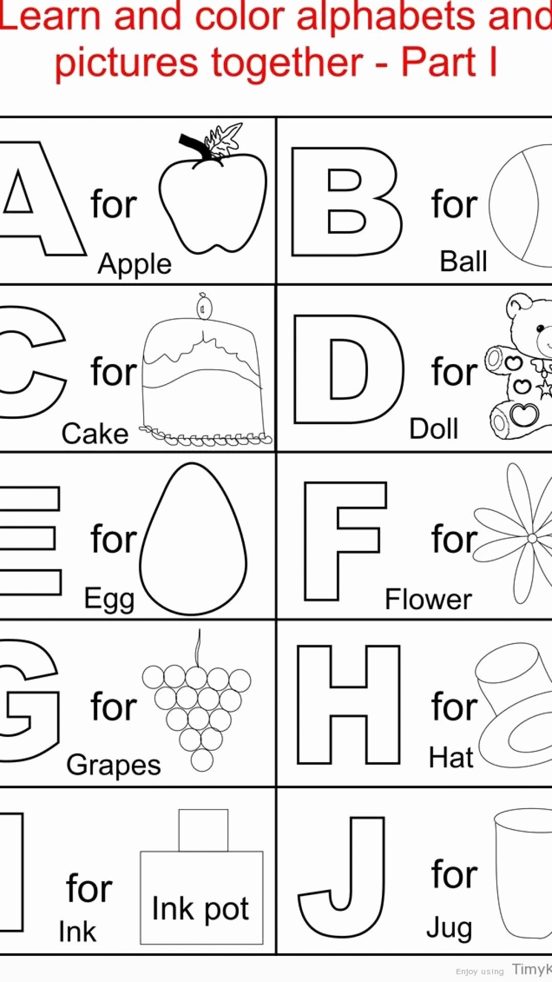 Alphabet Coloring Worksheets for Preschoolers Kids Alphabet Coloring Pages for toddlers Beautiful Pdf