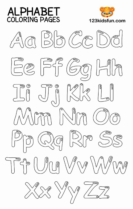 Alphabet Colouring Worksheets for Preschoolers Fresh Free Printable Alphabet Coloring Pages for Kids