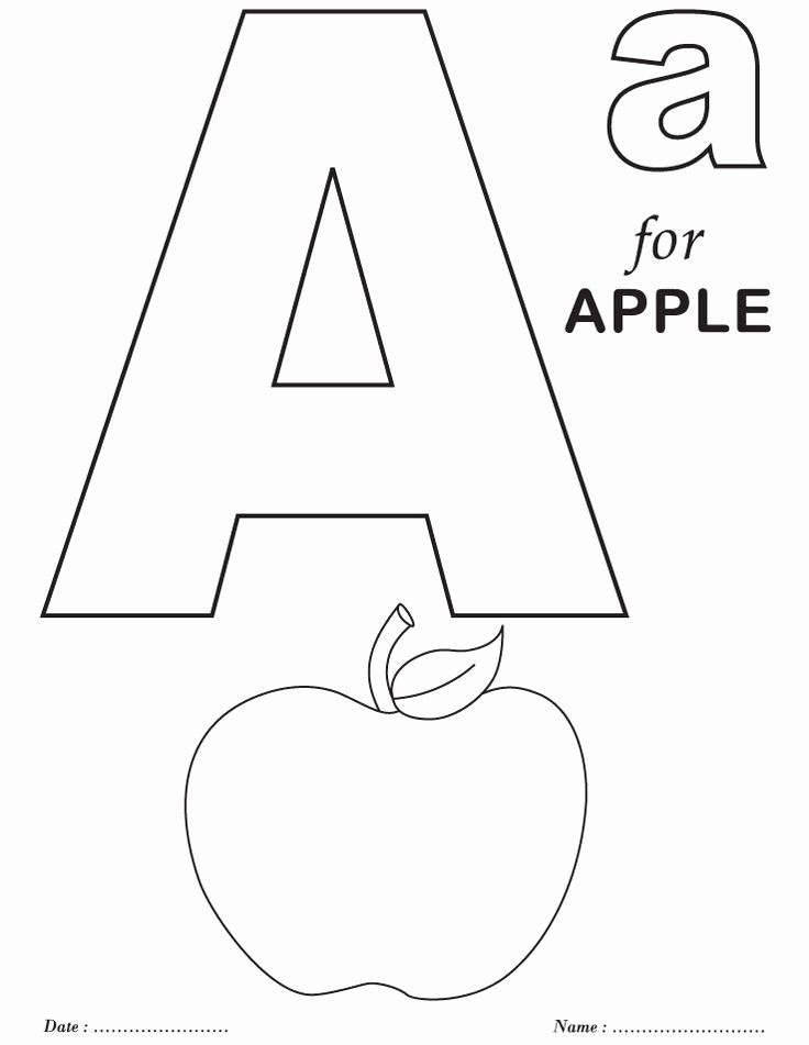 Alphabet Colouring Worksheets for Preschoolers Ideas 27 Staggering Coloring Letters for toddlers Ideas