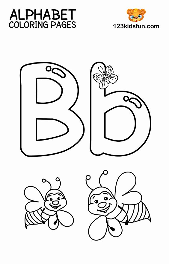 Alphabet Colouring Worksheets for Preschoolers Kids Free Printable Alphabet Coloring Pages for Kids