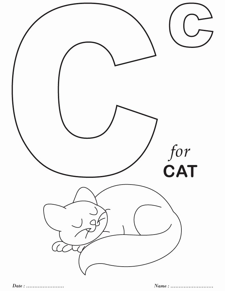 Alphabet Colouring Worksheets for Preschoolers New Coloring Books Alphabet Coloring Pages for toddlers