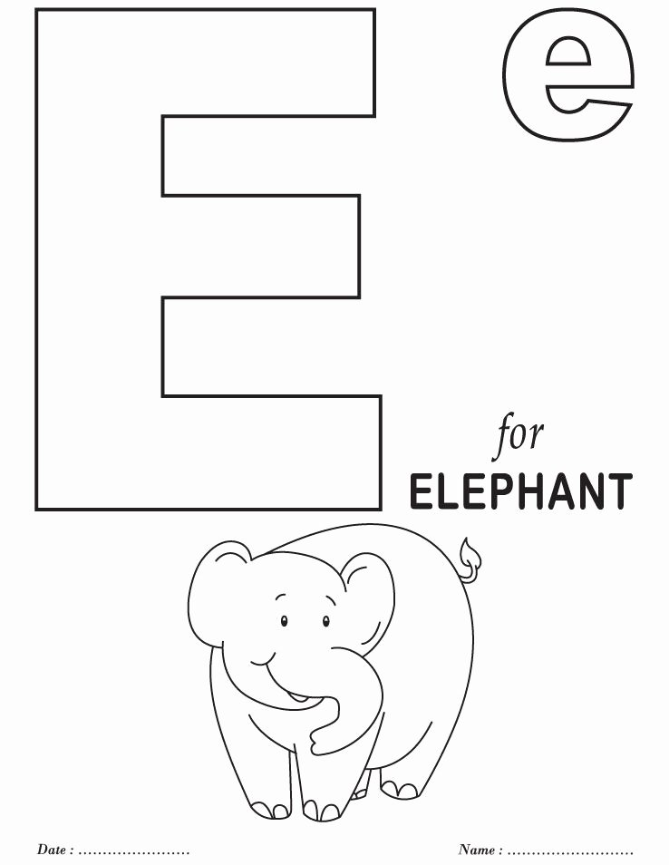 Alphabet Colouring Worksheets for Preschoolers Printable Printables Alphabet E Coloring Sheets