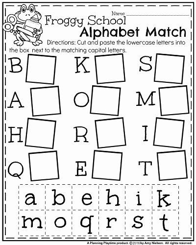 Alphabet Learning Worksheets for Preschoolers Free Back to School Kindergarten Worksheets Planning Playtime
