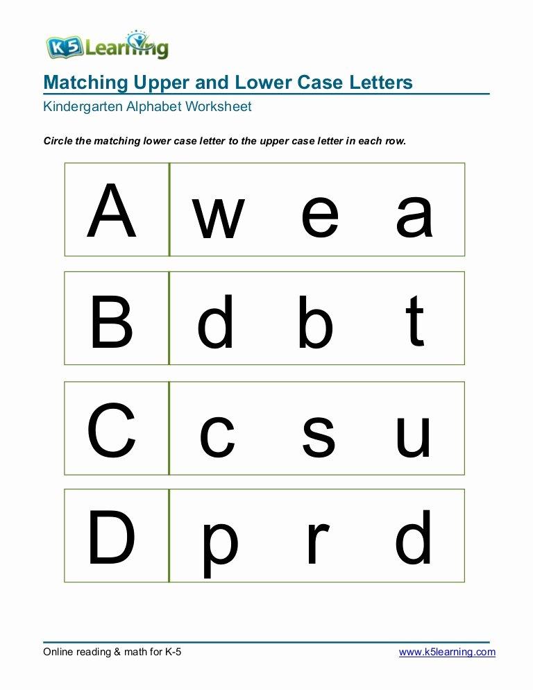 Alphabet Matching Worksheets for Preschoolers Ideas Kindergarten Matching Letters A B C D