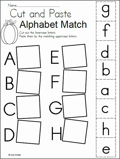 Alphabet Matching Worksheets for Preschoolers Kids Alphabet Match Worksheet for Fall Madebyteachers