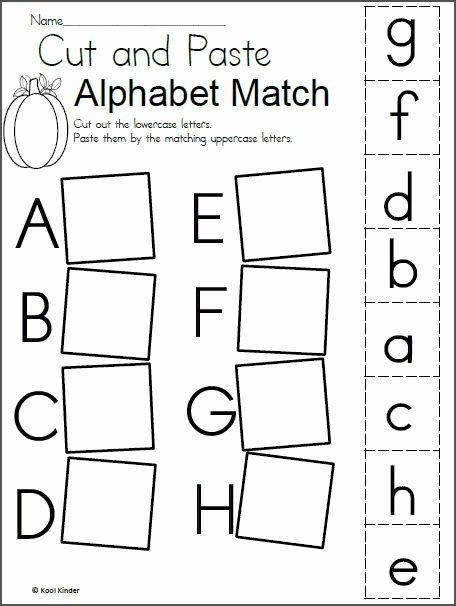 Alphabet Matching Worksheets for Preschoolers Kids Alphabet Match Worksheet for Fall Madebyteachers