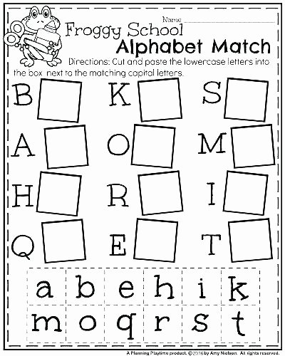 Alphabet Matching Worksheets for Preschoolers top Worksheet Tracing the Alphabetksheets Kindergartenksheet