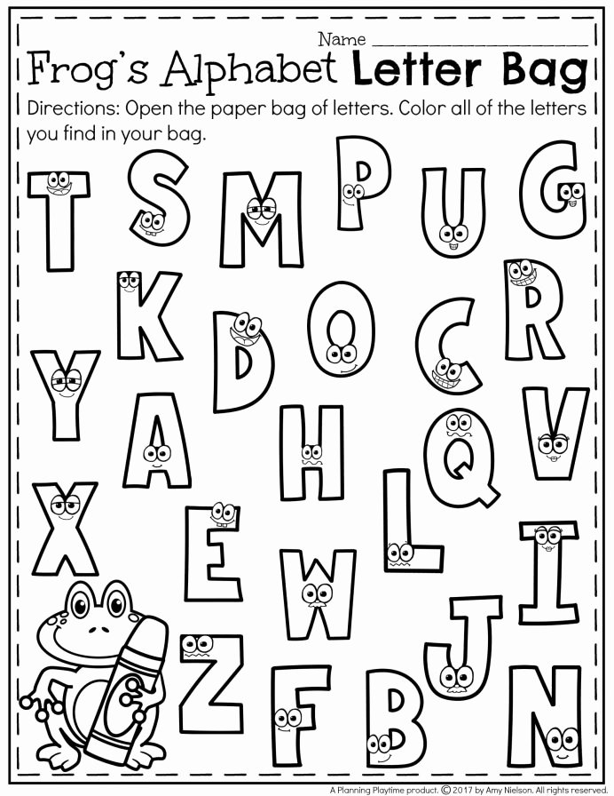 Alphabet Recognition Worksheets for Preschoolers Fresh Printables Preschool Recognition Kindergarten Letter Games