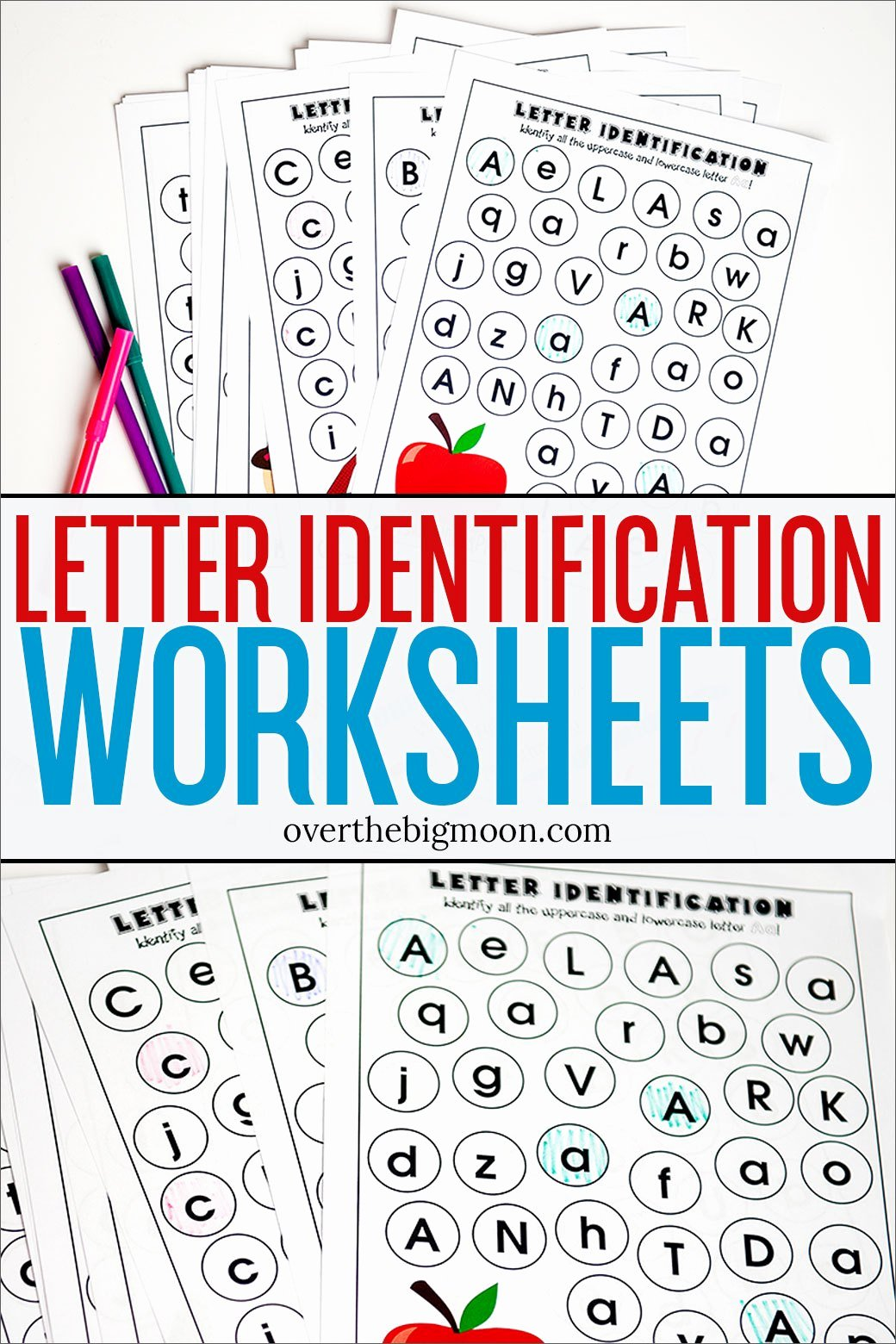 Alphabet Recognition Worksheets for Preschoolers Lovely Full Alphabet Letter Identification Printables