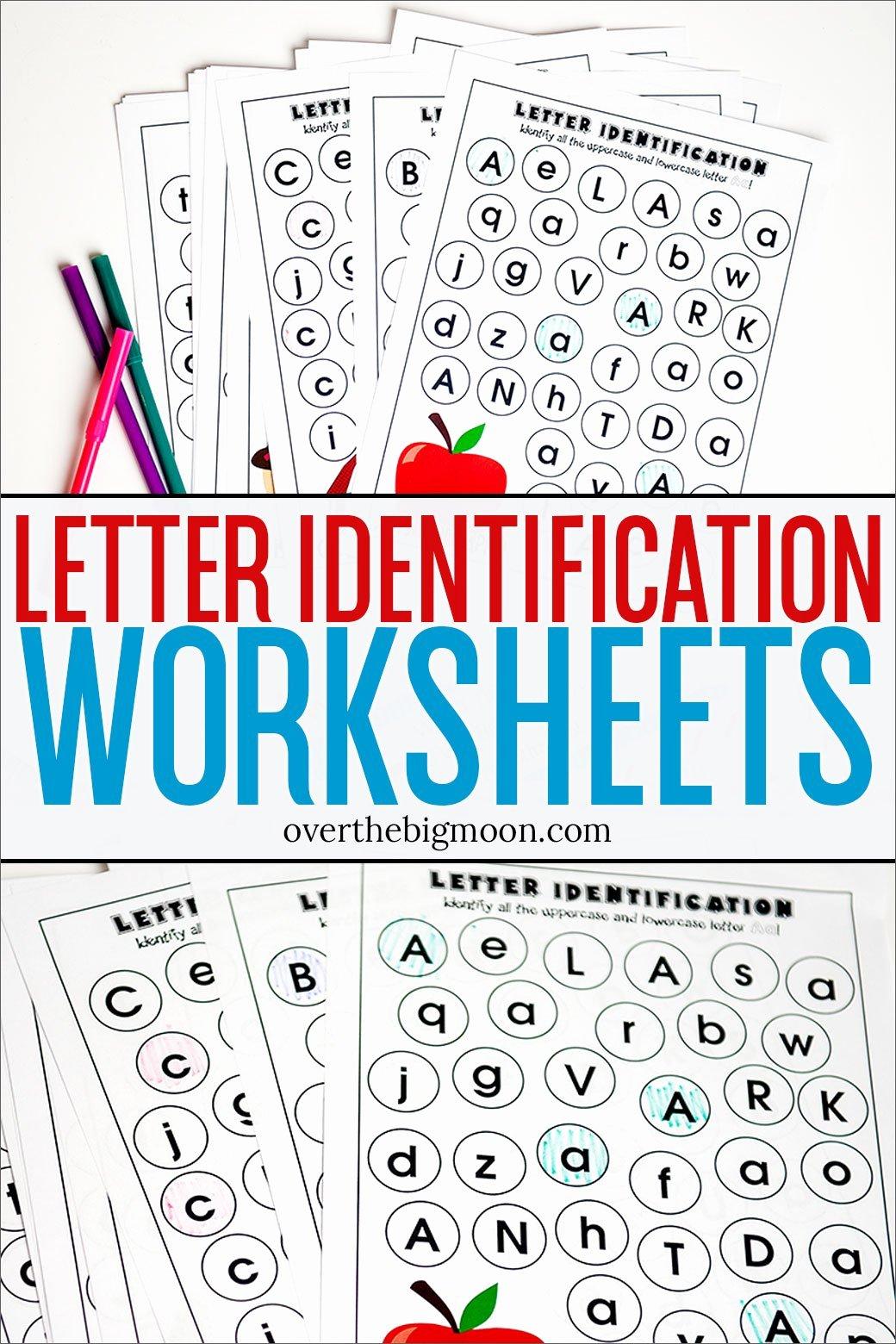 Alphabet Recognition Worksheets for Preschoolers Lovely Full Alphabet Letter Identification Printables