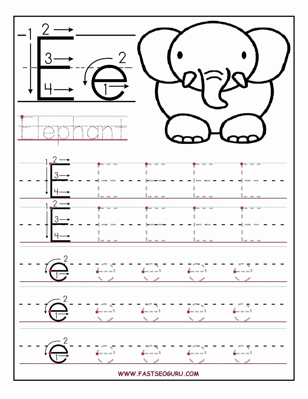 Alphabet Worksheets for Preschoolers Free Free Letter E Worksheets S Newpcairport
