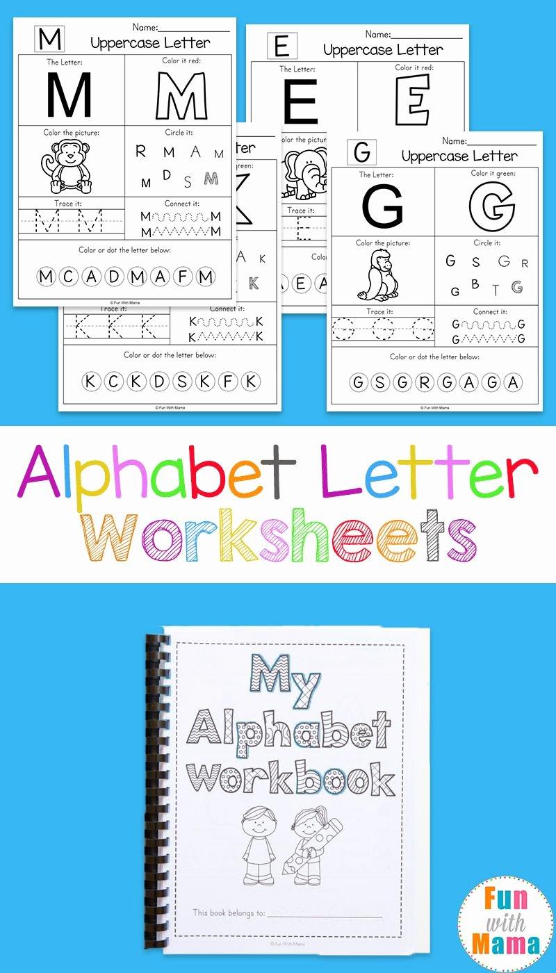 Alphabet Worksheets for Preschoolers Printable Fresh Printable Alphabet Worksheets to Turn Into A Workbook