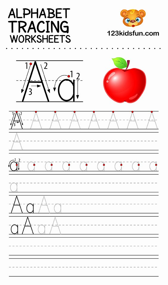 Alphabet Worksheets for Preschoolers Tracing Kids Alphabet Tracing Worksheets Free Printable for Kids Fun Apps