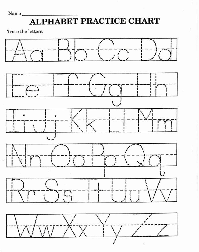 Alphabets Worksheets for Preschoolers Printable Worksheet Excelent Alphabet Sheet for Kindergarten