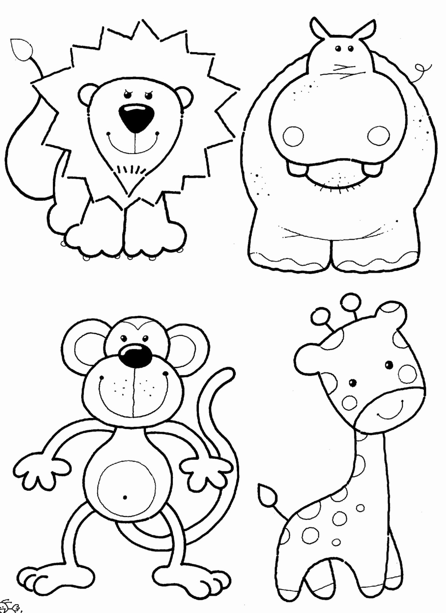 Animal Worksheets for Preschoolers Fresh Coloring Book Cute Animals Zoo Fabulous for themed Math