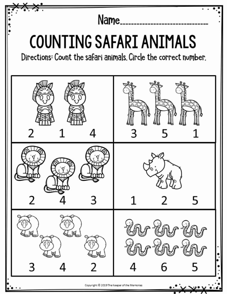 Animal Worksheets for Preschoolers top Free Printable Worksheets for Preschool Kindergarten Safari