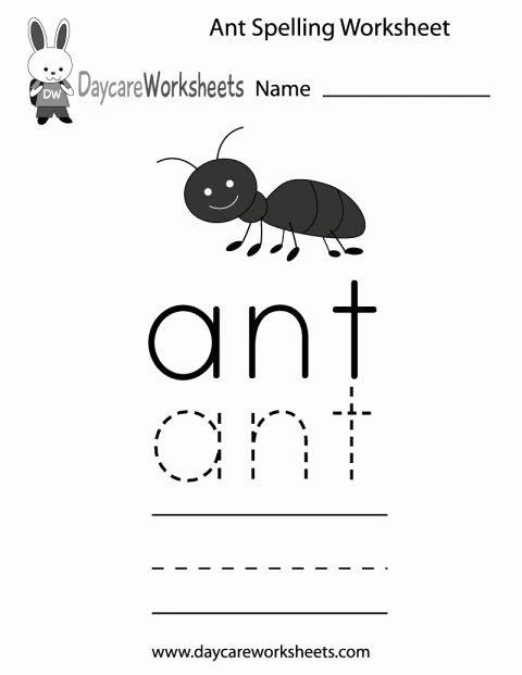 Ant Worksheets for Preschoolers New 11 Ant Worksheet Preschool Preschool