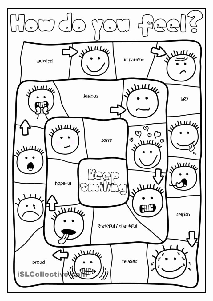 Anxiety Worksheets for Preschoolers New Do You Feel Board Game with Feelings Activities