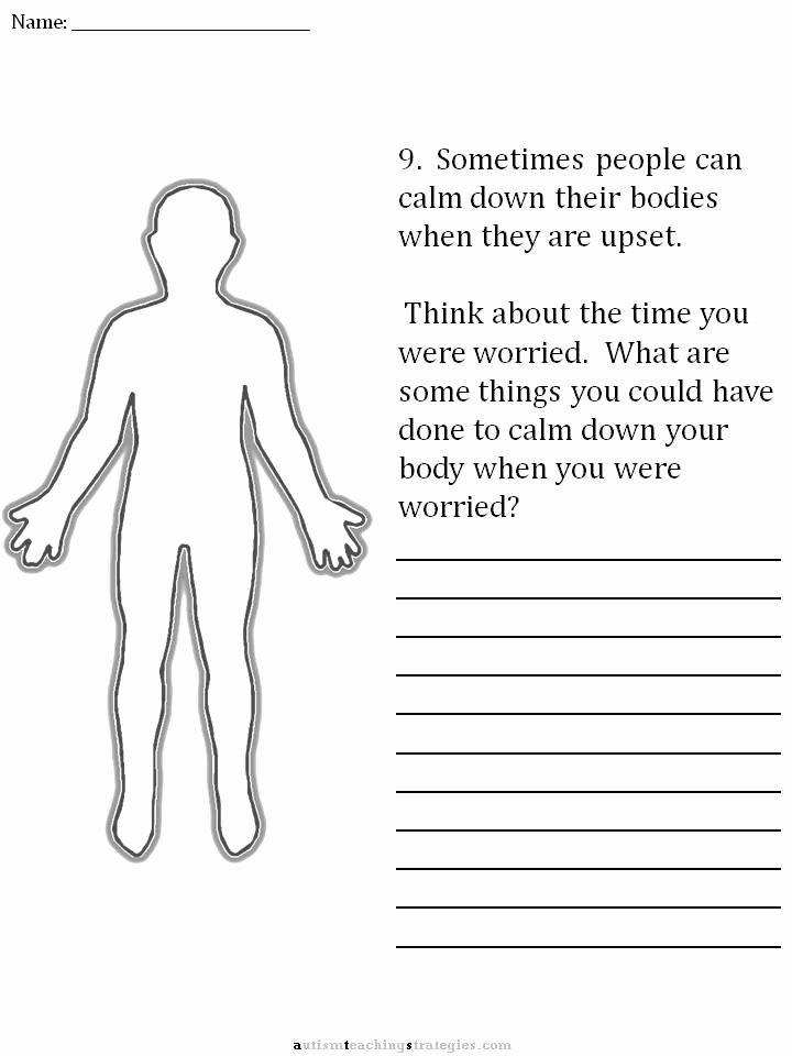 Anxiety Worksheets for Preschoolers top Pin On social Thinking