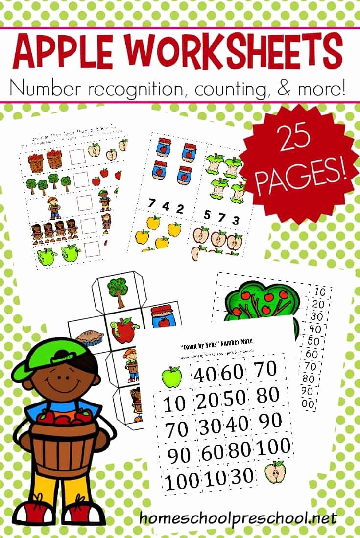 Apple Math Worksheets for Preschoolers Ideas Printable Apple Math Worksheets for Preschoolers