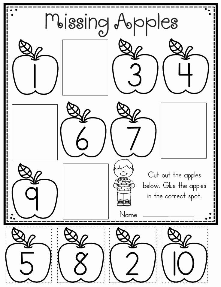 Apple Math Worksheets for Preschoolers Printable Apple Printables for Kindergarten
