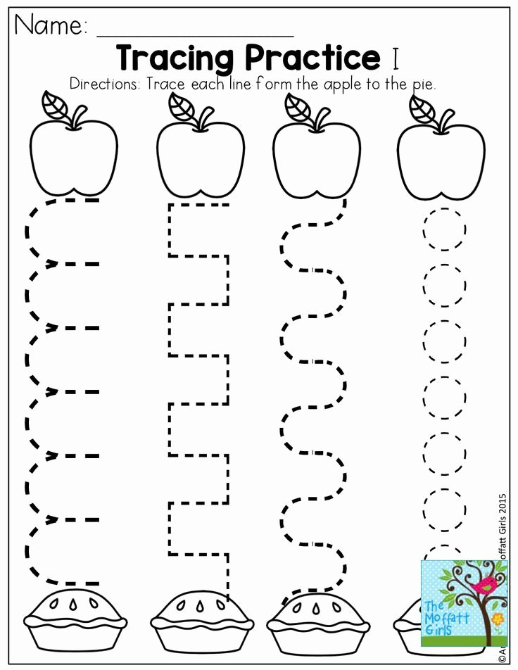 Apple Worksheets for Preschoolers Kids Back to School Packets