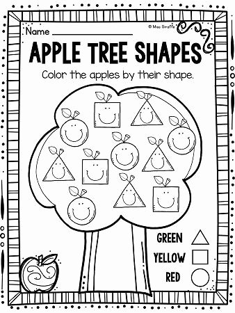 Apple Worksheets for Preschoolers Lovely Apples theme 2d Shapes Activities for Your Apples Unit
